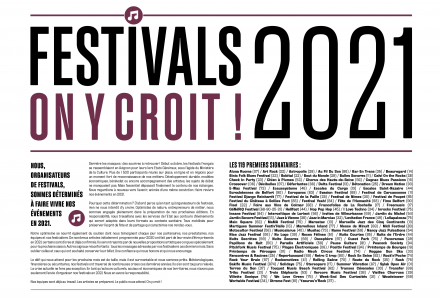 Festivals 2021 on y croit!